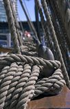 Ships Rigging. Ships ropes Stock Photos