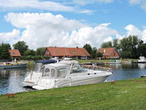Ships in river, Lithuania Stock Images