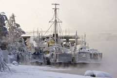 Ships at winter park Stock Photography