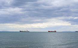 Ships in the roadstead Stock Photography