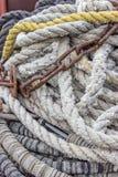 Ships ropes Stock Photo