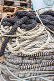 Ships ropes Stock Images