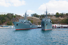 Ships of the Russian navy Royalty Free Stock Photo