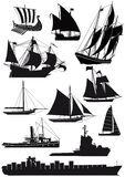 Ships and saiboats Stock Photo