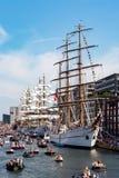 Ships during Sail Amsterdam Royalty Free Stock Photo