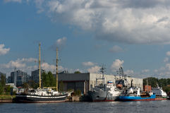 Ships in Saint Petersburg Stock Photography
