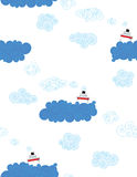 Ships on the sea. Seamless pattern for kids royalty free illustration