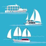 Ships at sea. Icon vector illustration graphic design Royalty Free Stock Images