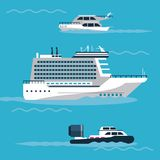 Ships at sea. Icon vector illustration graphic design Royalty Free Stock Photo
