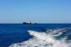 Ships at sea Stock Photography