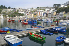 Ships in the Seaport of Luarca, Asturias, Spain royalty free stock photography