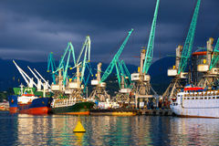 Ships in seaport Royalty Free Stock Image