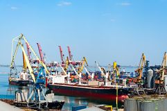 Ships In Seaport Royalty Free Stock Photography