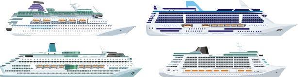 Ships set vector illustration