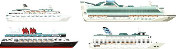 Ships set Royalty Free Stock Image