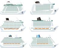 Ships set Stock Image