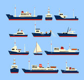 Ships set. Royalty Free Stock Images