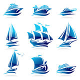 Ships set. Vector. Illustration. This is file of EPS8 format Royalty Free Stock Photography