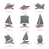Ships set. Vector Stock Photos
