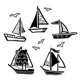 Ships set. Stock Image