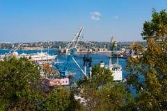 Ships in Sevastopol Stock Images