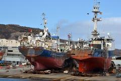 Ships at the shipyard Stock Photography