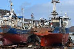 Ships at the shipyard Stock Photo