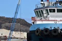 Ships at the shipyard Stock Images