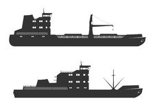 Ships silhouettes Stock Image