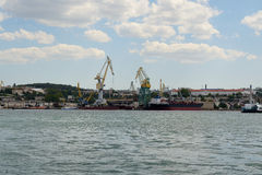 Ships in the southern bay of Sevastopol Royalty Free Stock Image