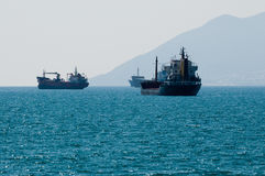 The ships on spot-check. Royalty Free Stock Image