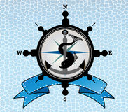Ships steering wheel compass anchor Royalty Free Stock Photo
