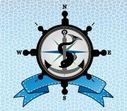 Ships steering wheel compass anchor Royalty Free Stock Photo