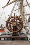 Ships steering wheel Stock Photos