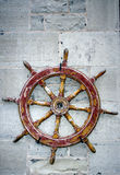 Ships Steering Wheel on Display Royalty Free Stock Images