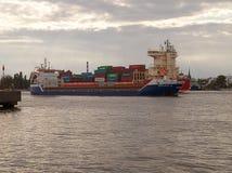 Ships in Swinoujscie. Stock Photo