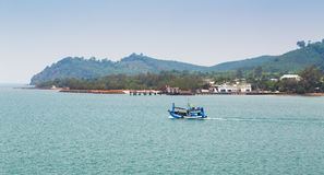 Ships in Thailand on the island of Koh Chang Stock Photos
