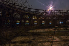 Ships to guard locomotives in the night. Ships to guard steam locomotives left royalty free stock images
