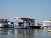 Tourist Ship in Danube Delta - landmark attraction in Romania stock images