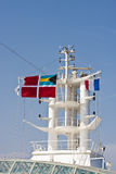 Ships Tower and French Flag Royalty Free Stock Photography