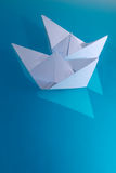 Ships  toy  paper  floats Royalty Free Stock Photo