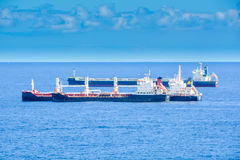 3 ships transporting Royalty Free Stock Image