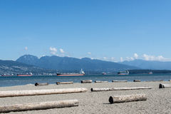 Ships in Vancouver Harbour Royalty Free Stock Image