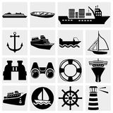 Ships vector icon set. Stock Photo