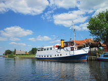 Ships in village Minge, Lithuania Stock Images