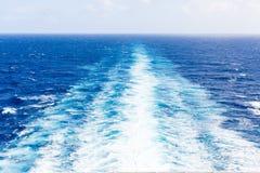 Ships Wake at Sea Stock Photo