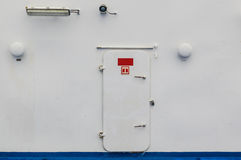 Ships watertight door. From deck into the accomdation Royalty Free Stock Photo