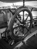 Ships wheel. Close up of the ships wheel Stock Images