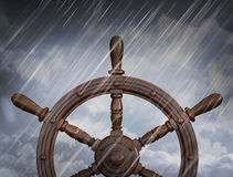 Ships wheel, storm Stock Photo