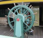 This is a ships wheel from a tall ship royalty free stock photo